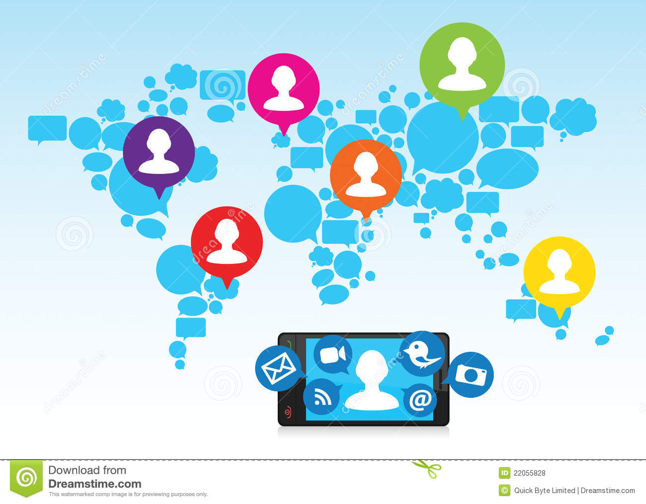 Social media cell phone photo clipart png black and white Social Media And Cell Phone Royalty Free Stock Photos - Image ... png black and white
