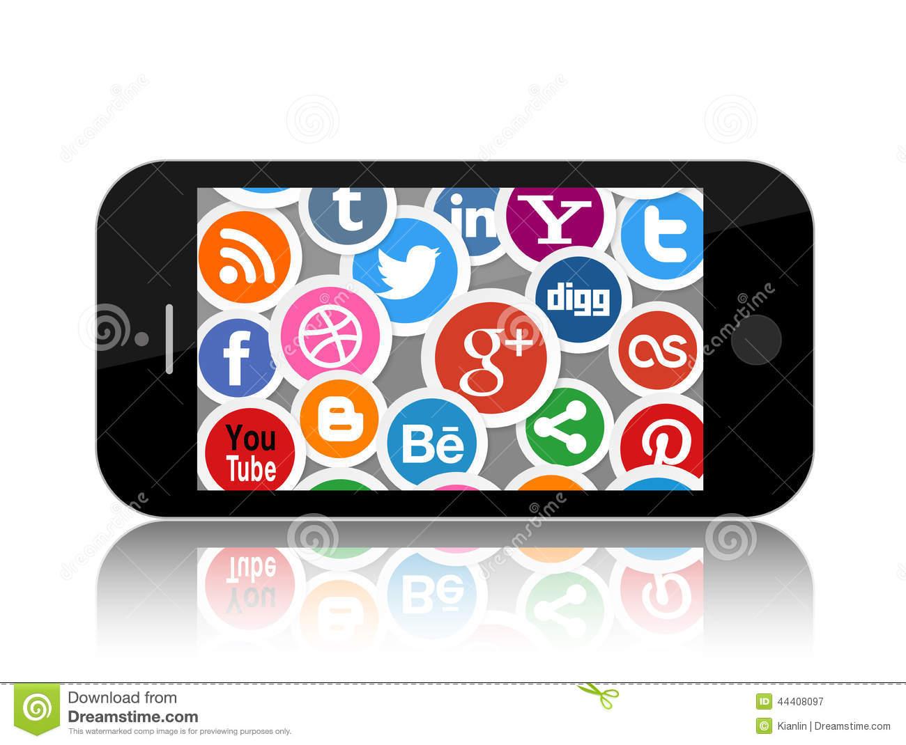 Social media clip art image library stock Social Media Clip Art Red – Clipart Free Download image library stock