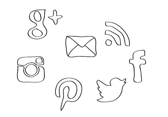 Social media clip art png library library 17 Best images about Social Media Buttons on Pinterest | Vintage ... png library library