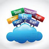Social media clip art graphic transparent Social Media Clip Art - Royalty Free - GoGraph graphic transparent