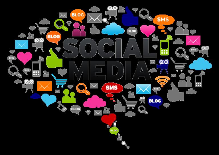 Social media clip art svg black and white stock Social Media News vs. Traditional News Network – Learnex svg black and white stock