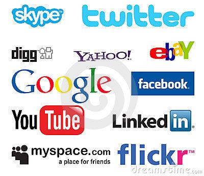 Social media clipart clip art royalty free library Social Media Logo Clipart - Clipart Kid clip art royalty free library