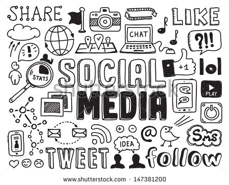 Social media clipart black and white jpg freeuse Social Media Stock Images, Royalty-Free Images & Vectors ... jpg freeuse