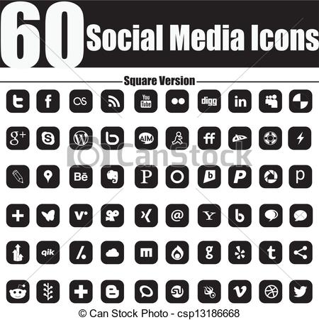 Social media clipart black and white svg free Vintage social media Clip Art Vector Graphics. 2,330 Vintage ... svg free
