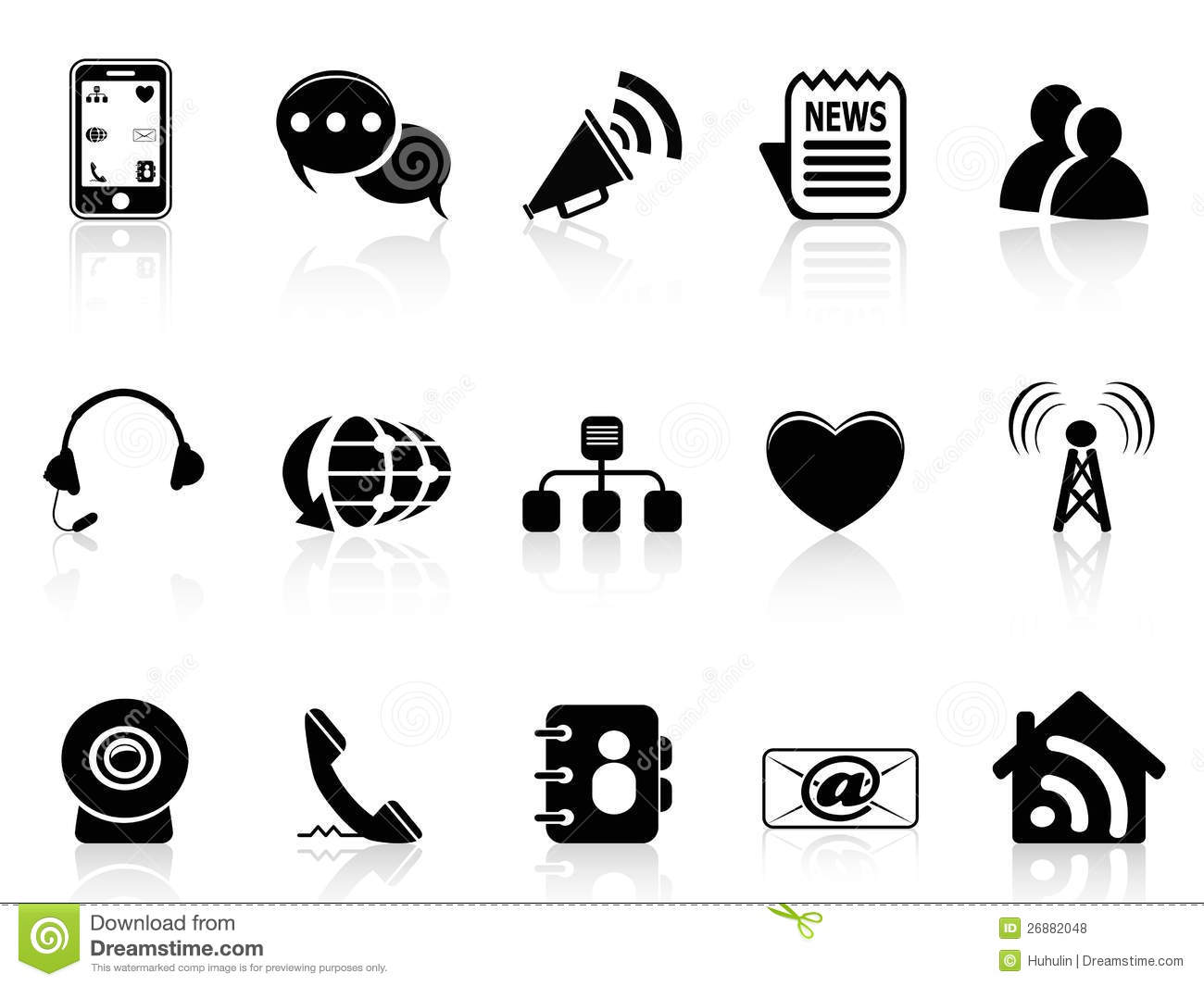 Social media clipart black and white graphic Black Social Media Icons Set Royalty Free Stock Photos - Image ... graphic