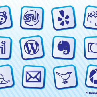 Social media clipart pack png transparent download Sketchy Social Media Icons Free Vector | 123Freevectors png transparent download