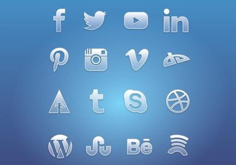 Social media clipart pack clip transparent Flat Social Media Icon Vector Pack | Free Vector Art at Vecteezy! clip transparent