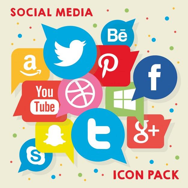 Social media clipart pack vector royalty free library Social media clipart packs - ClipartFest vector royalty free library