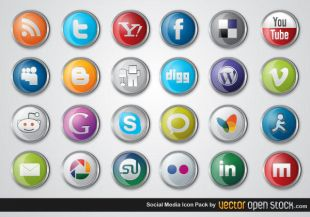 Social media clipart pack banner royalty free 3D Social Media Icon Pack icons | free icon packs | UI Download banner royalty free