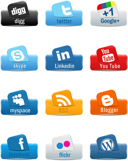 Social media clipart pack freeuse download Clipart icon pack - ClipartFest freeuse download