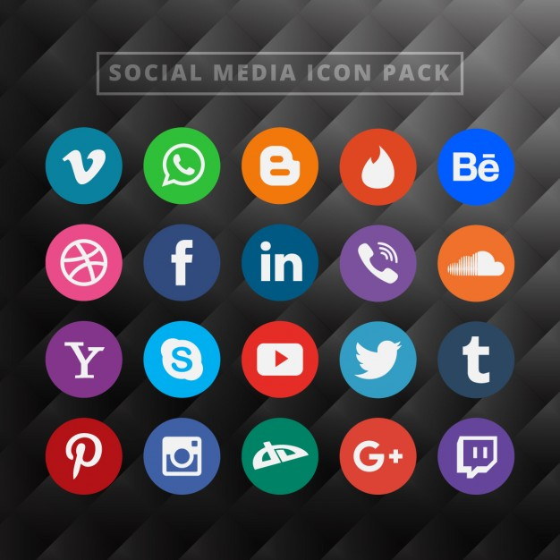 Social media clipart pack graphic transparent download Social Media Icon Pack Vector | Free Download graphic transparent download