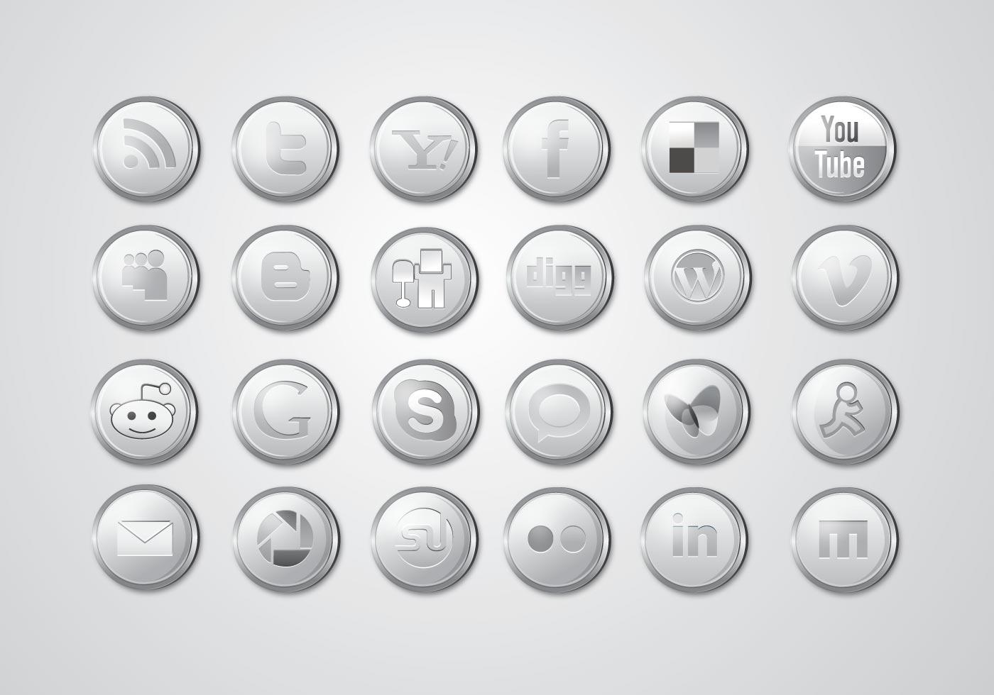 Social media clipart pack transparent Free Social Media Icons - Download SVG, EPS & PNG transparent