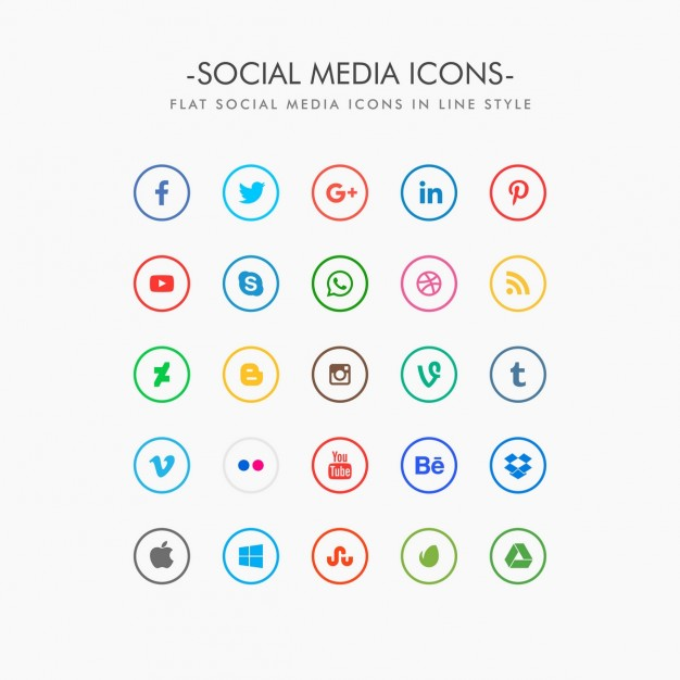 Social media clipart pack clip free stock Social Media Icons Vectors, Photos and PSD files | Free Download clip free stock