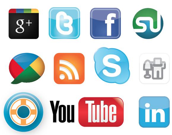 Social media clipart packs clip library stock Premium Social Media Vector Icon Pack clip library stock