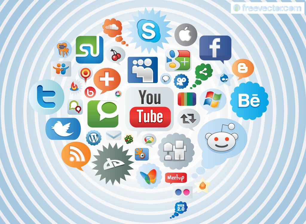 Social media clipart packs svg stock Social media clipart packs - ClipartFest svg stock