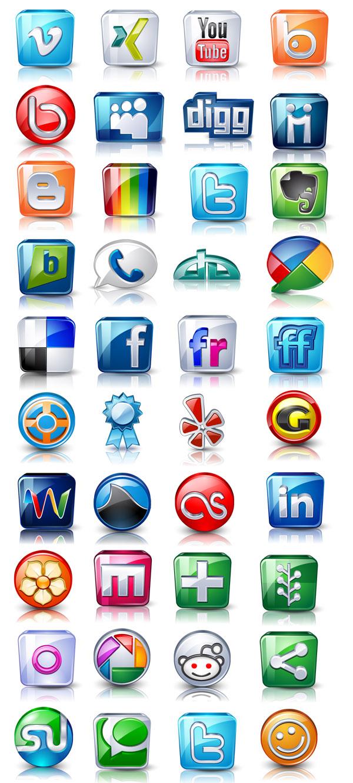 Social media clipart packs free vector social media icons pack free   Web Design & Development free