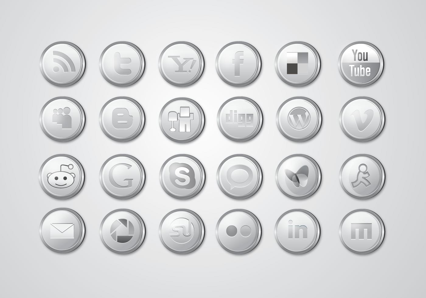 Social media clipart packs jpg library Free Social Media Icons - Download SVG, EPS & PNG jpg library