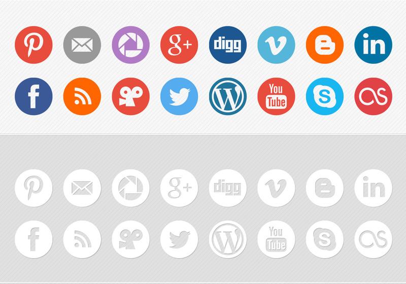 Social media clipart packs image stock Flat Social Media Icon Vector Pack   Free Vector Art at Vecteezy! image stock