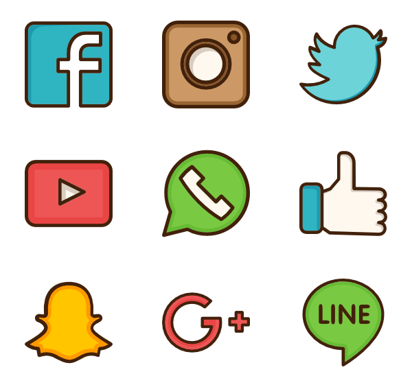Social media logo clipart graphic transparent download HQ Social Media PNG Transparent Social Media.PNG Images. | PlusPNG graphic transparent download
