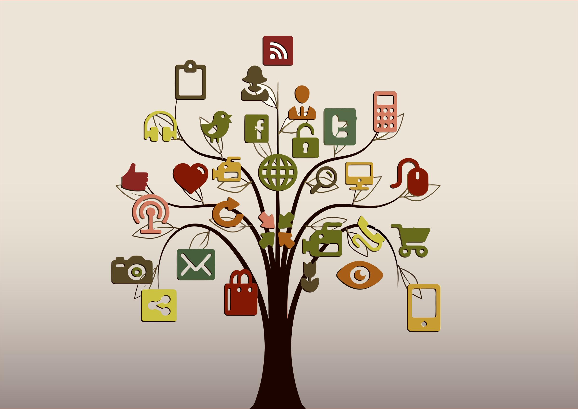 Social media clipart png vector royalty free library Clipart - Social Media Tree vector royalty free library