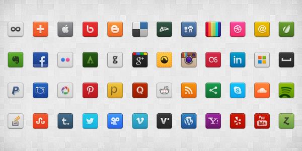 Social media clipart png banner freeuse download Social Media Icon Set (PSD+PNG), vector graphics - Clipart.me banner freeuse download