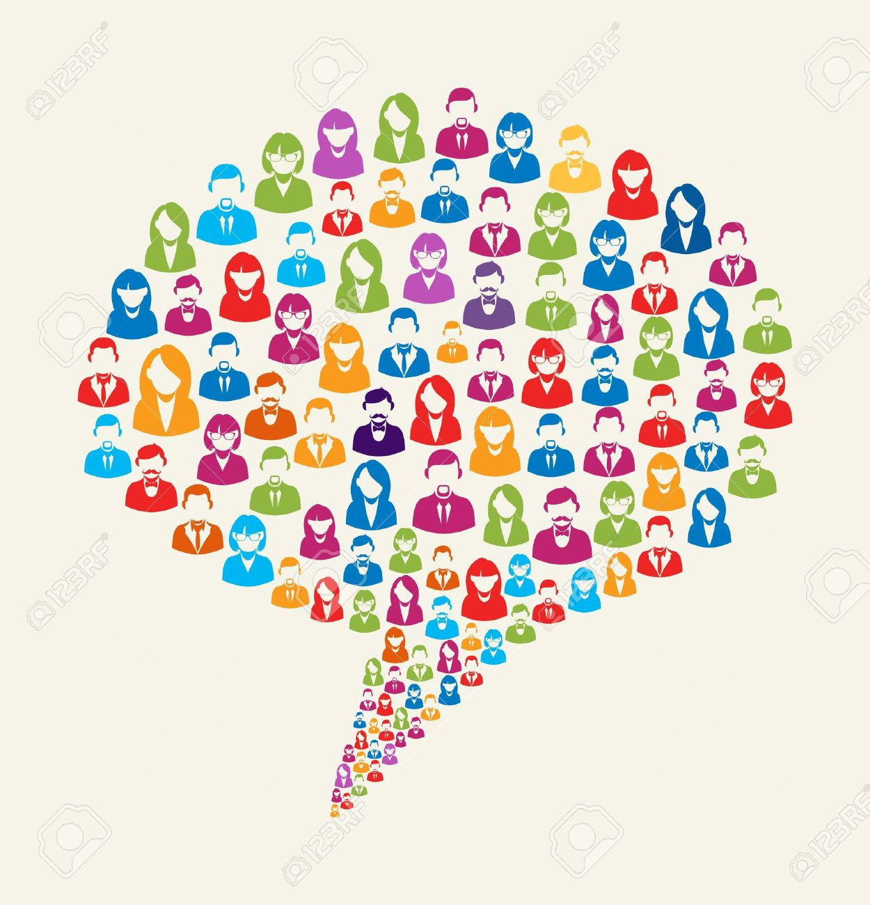 Social media clipart png no background graphic stock Colorful Social Media User Icons Texture In Talk Bubble Shape ... graphic stock