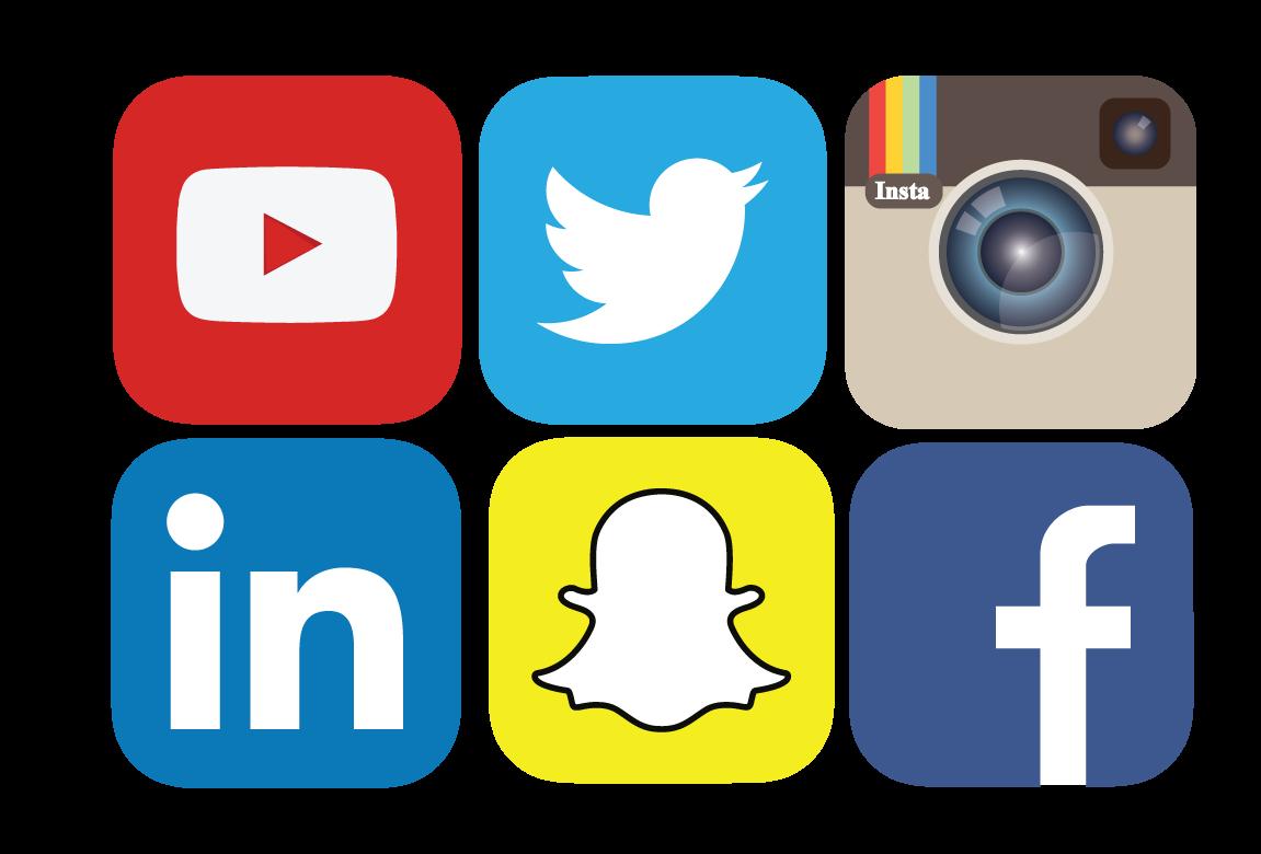 Social media icons clipart jpg stock Social media clipart png no background - ClipartFest jpg stock
