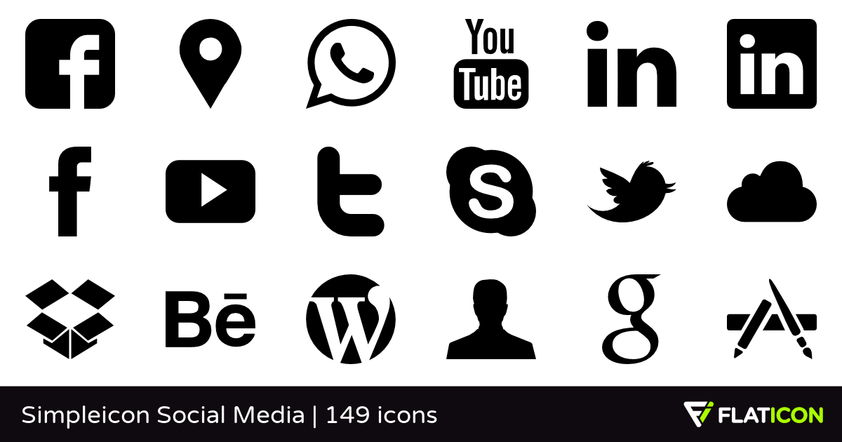 Social media clipart png no background clipart royalty free library Simpleicon Social Media +145 free icons (SVG, EPS, PSD, PNG files) clipart royalty free library