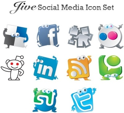 Social media clipart set jpg freeuse Free social media icons vector free vector download (14,531 Free ... jpg freeuse