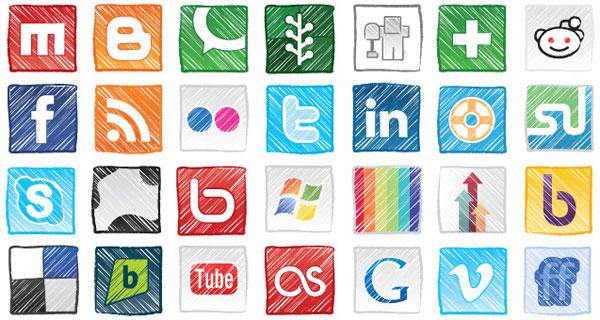 Social media clipart set banner royalty free download Social media clipart packs - ClipartFest banner royalty free download