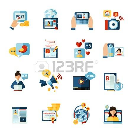 Social media clipart set picture black and white library 258,247 Social Media Stock Illustrations, Cliparts And Royalty ... picture black and white library