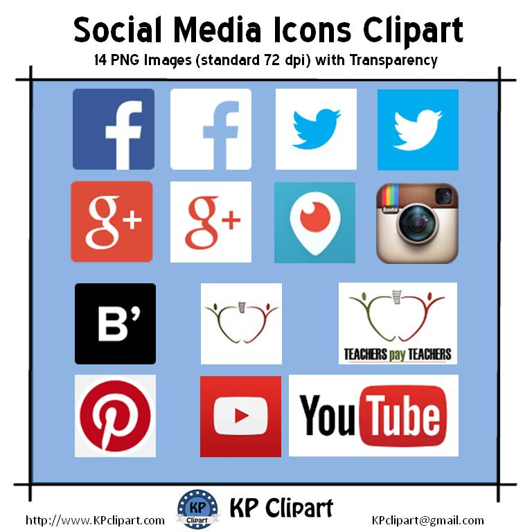 Social media clipart set clipart royalty free KP Clipart: Are Using Custom Social Media Buttons Legal? clipart royalty free