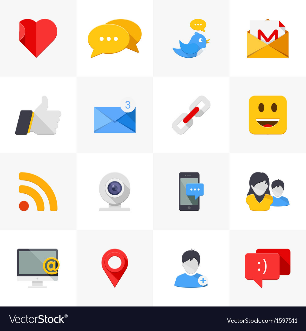 Social media icons vector image on VectorStock svg transparent stock