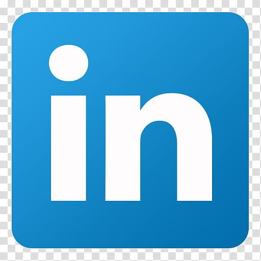 Flat Gradient Social Media Icons, Linkedin, In logo art ... clip freeuse stock