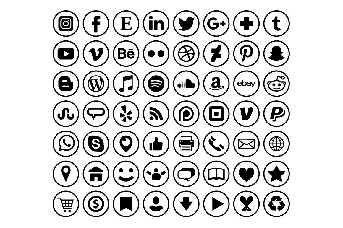 Circle Social Media Icons jpg library stock