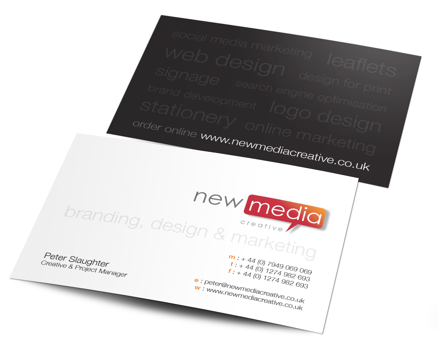 Social media free clipart banner black and white library Business card examples with social media clipart images ... banner black and white library