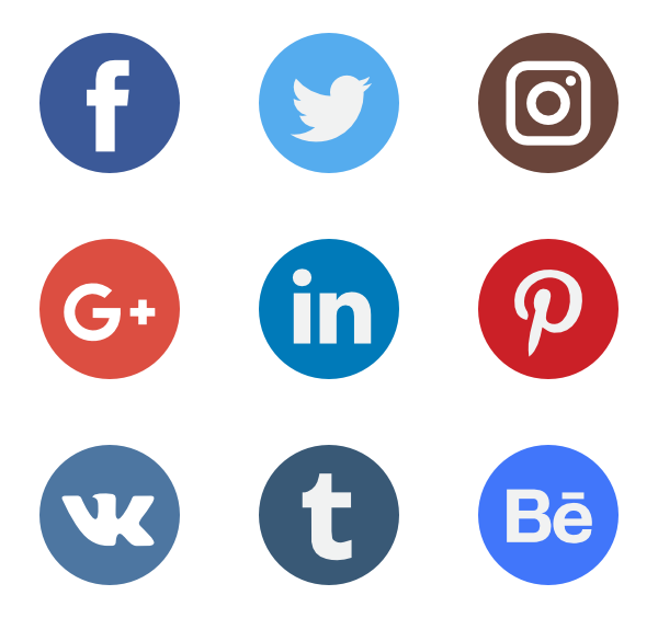 Social media icon clipart svg library library Free vector icons - SVG, PSD, PNG, EPS & Icon Font - Thousands of ... svg library library