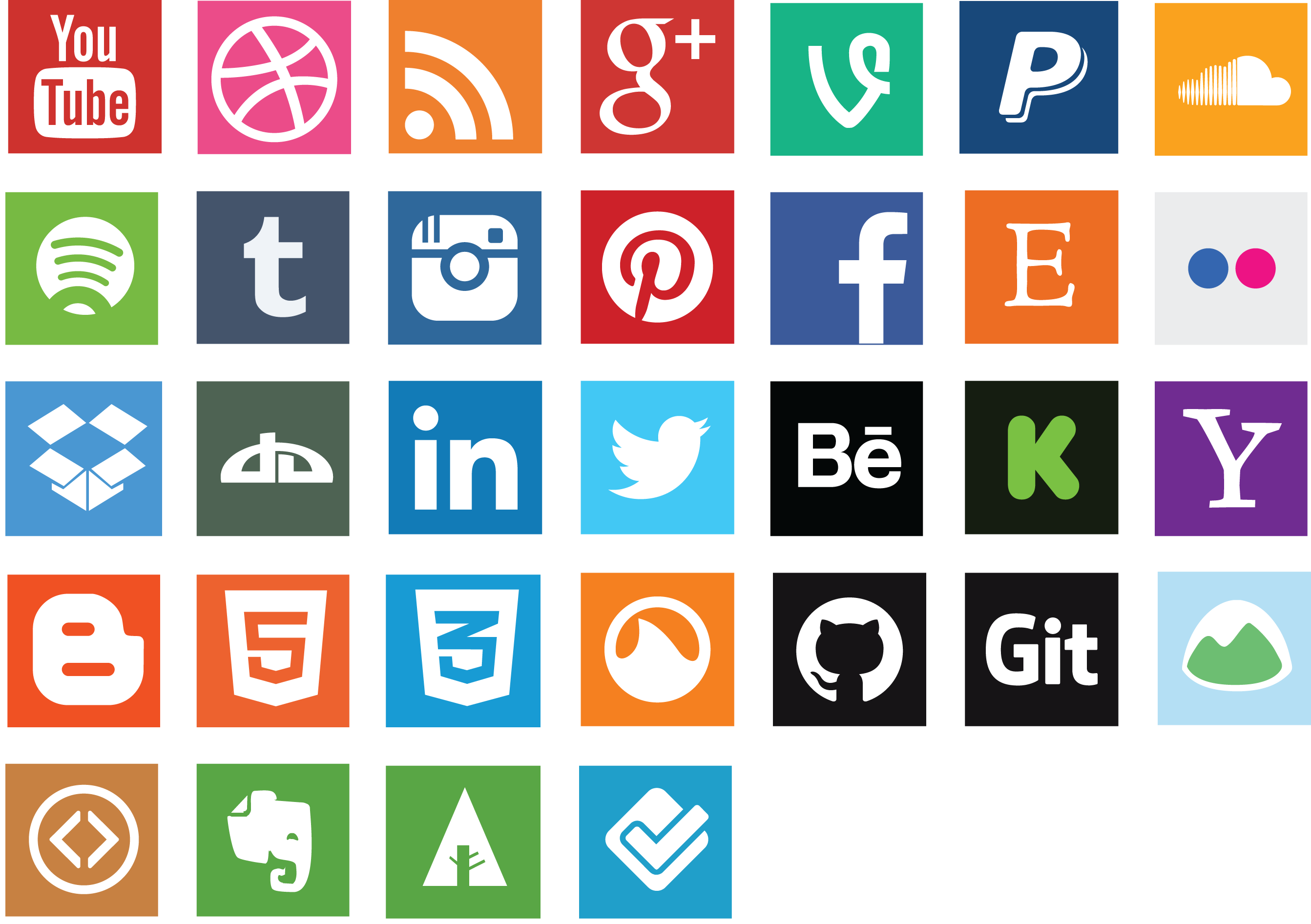 Social media icon clipart picture library Social Media PNG Photos Clipart - 9289 - TransparentPNG picture library