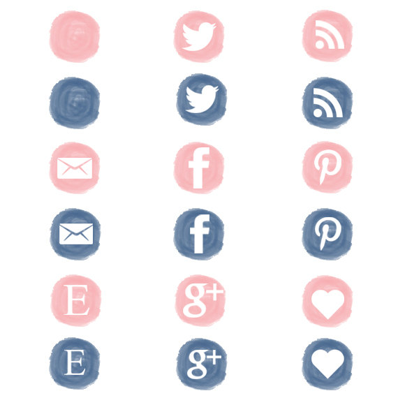 Social media icons clipart vector black and white Pink social icons | Etsy vector black and white