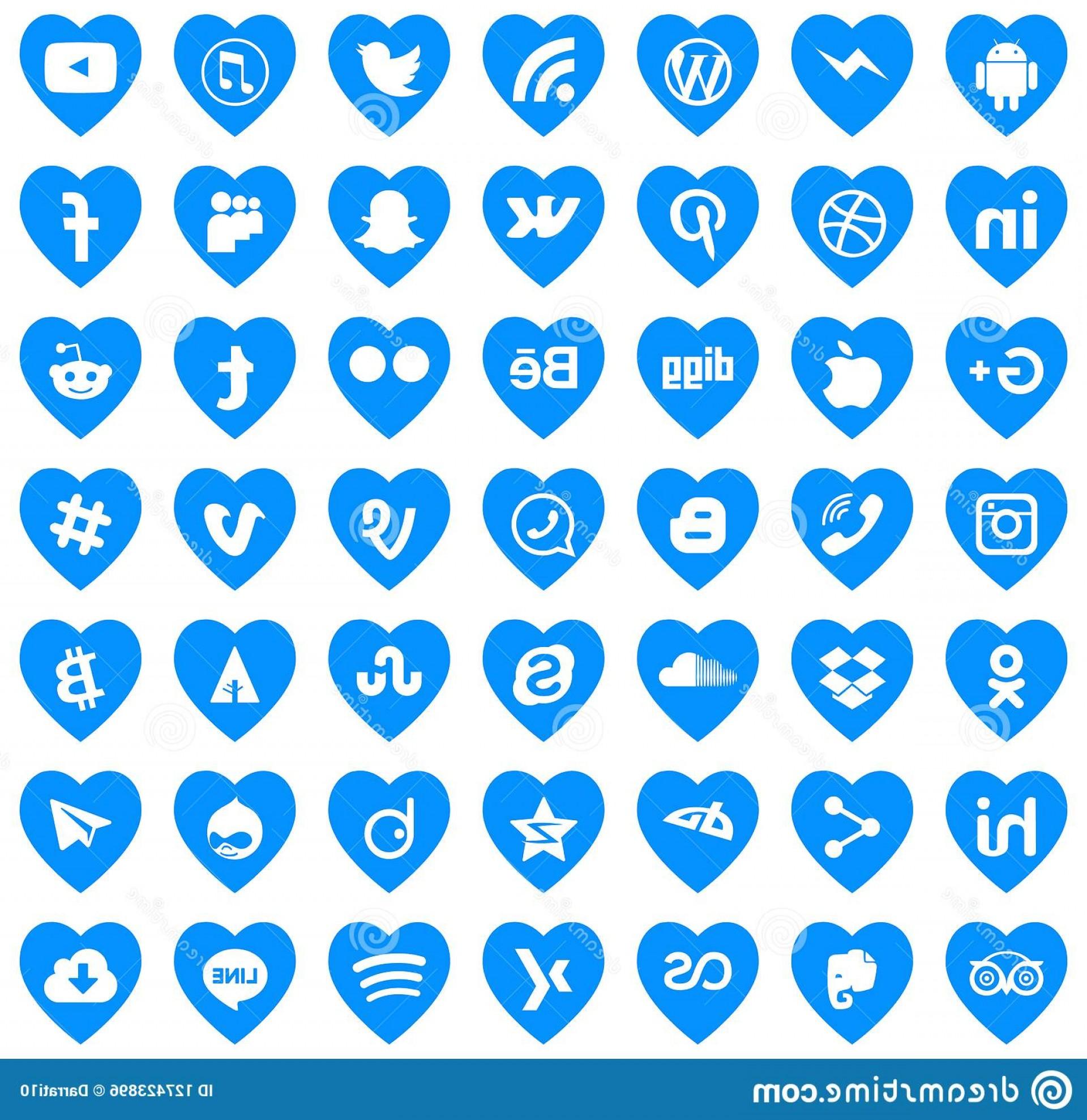 Social media icons vector clipart svg black and white stock Download Social Media Icons Vector Love Logos Networks ... svg black and white stock