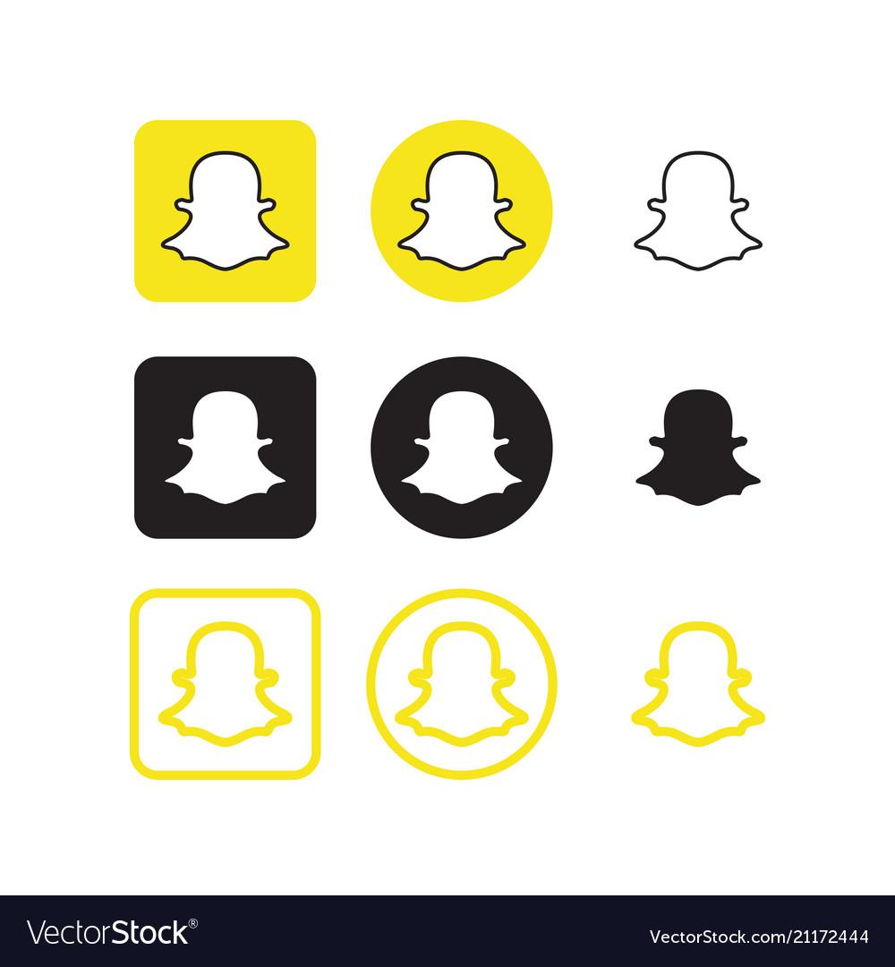 Social media icons vector clipart svg Snapchat social media icons svg