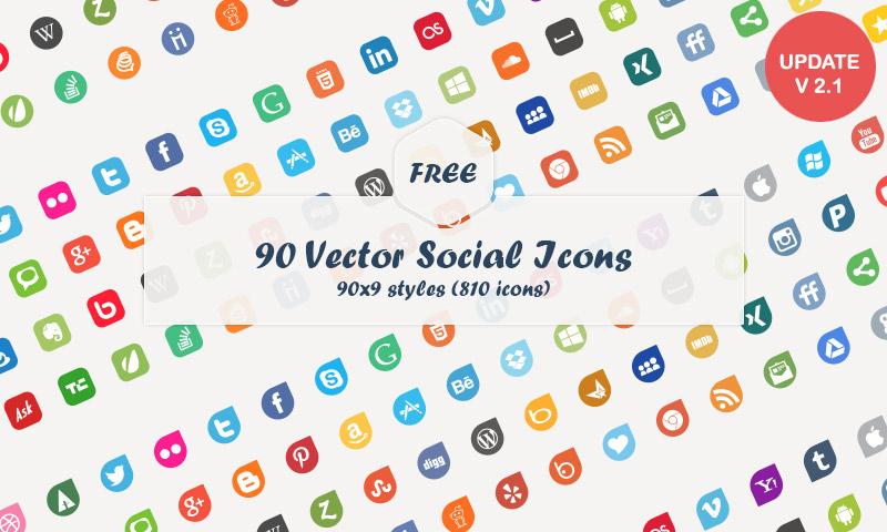 Social media logo clipart clipart transparent library Free Download: 90 Vector Social Media Icons - Dreamstale clipart transparent library
