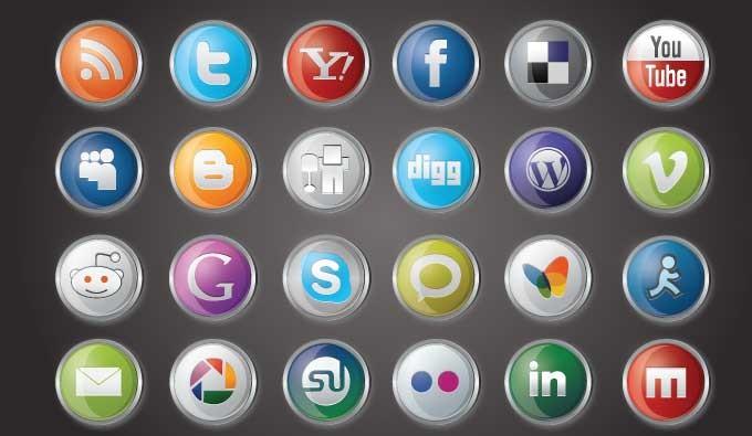 Social media logo clipart clip art library stock Social Media Icons Vector | Vectorish clip art library stock