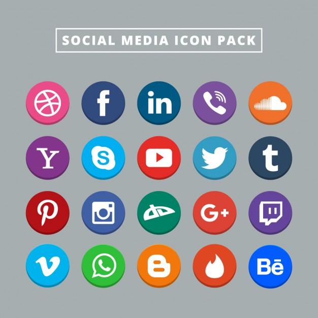 Social media logo clipart image black and white download Social Media Icons Vectors, Photos and PSD files | Free Download image black and white download