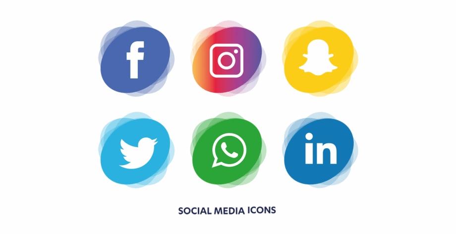 Social media logo clipart transparent graphic black and white Social Media Logos Transparent Free PNG Images & Clipart ... graphic black and white