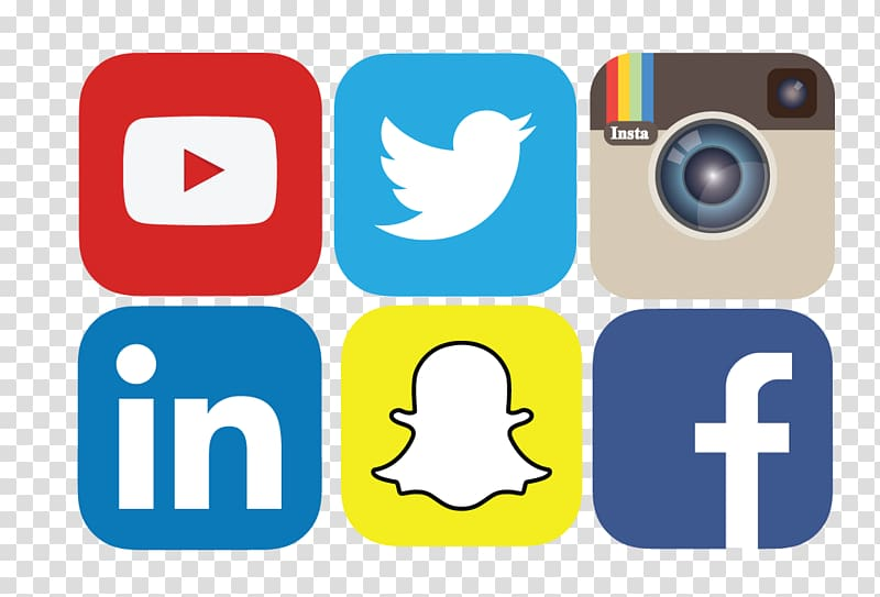 Social media logo clipart transparent banner transparent library Social media marketing Social network Icon, Social Media ... banner transparent library