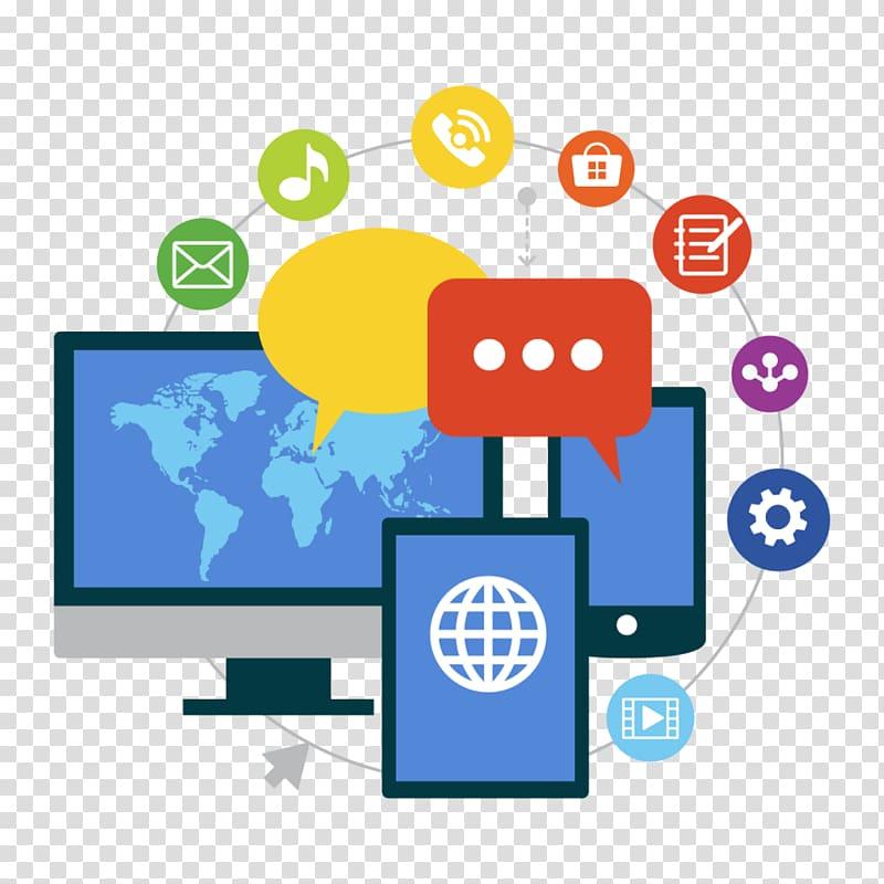 Technology and social media clipart svg stock Free download | Social media marketing Social network ... svg stock