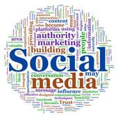 Social media marketing clipart jpg black and white stock Stock Illustration of Online Marketing Signpost Shows Blogs ... jpg black and white stock