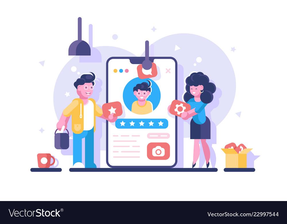 Social media profile clipart vector freeuse Social media personal profile vector freeuse