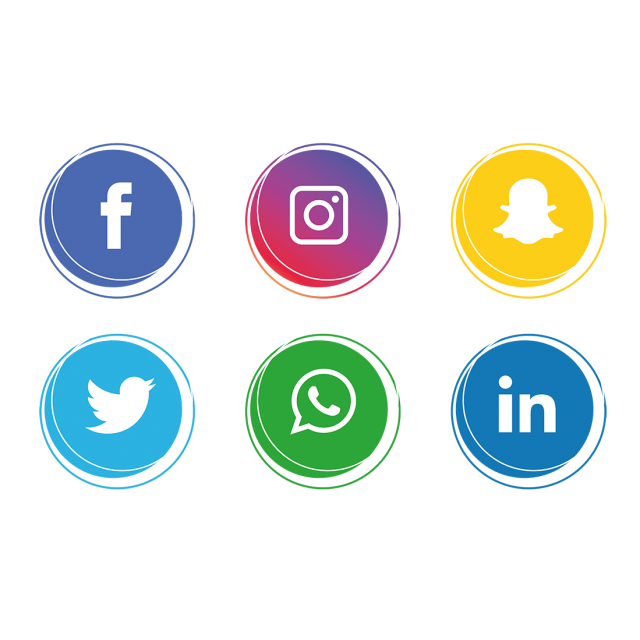 Social networking icons clipart